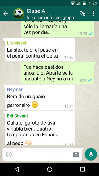 whatsapp cavani